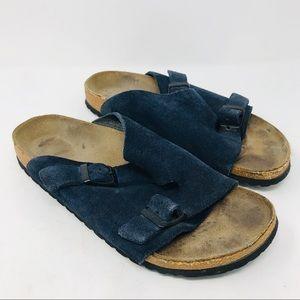 Birkenstock Zurich Navy Blue Suede Sandals 41